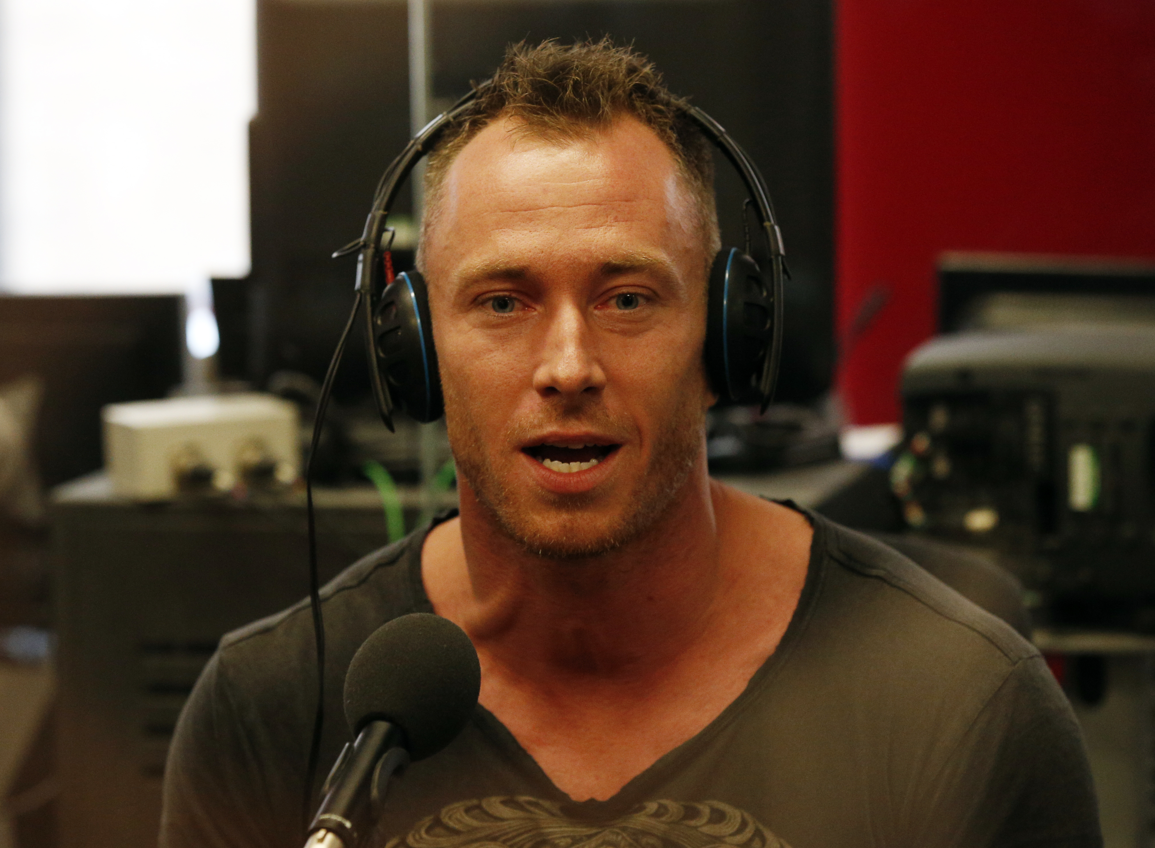 Strictly Come Dancing dancer James Jordan on the Vanessa Feltz show on BBC London 94.9 FM, ahead of the first live Strictly Come Dancing show on Friday on BBC1.   (Photo by Jonathan Brady/PA Images via Getty Images)
