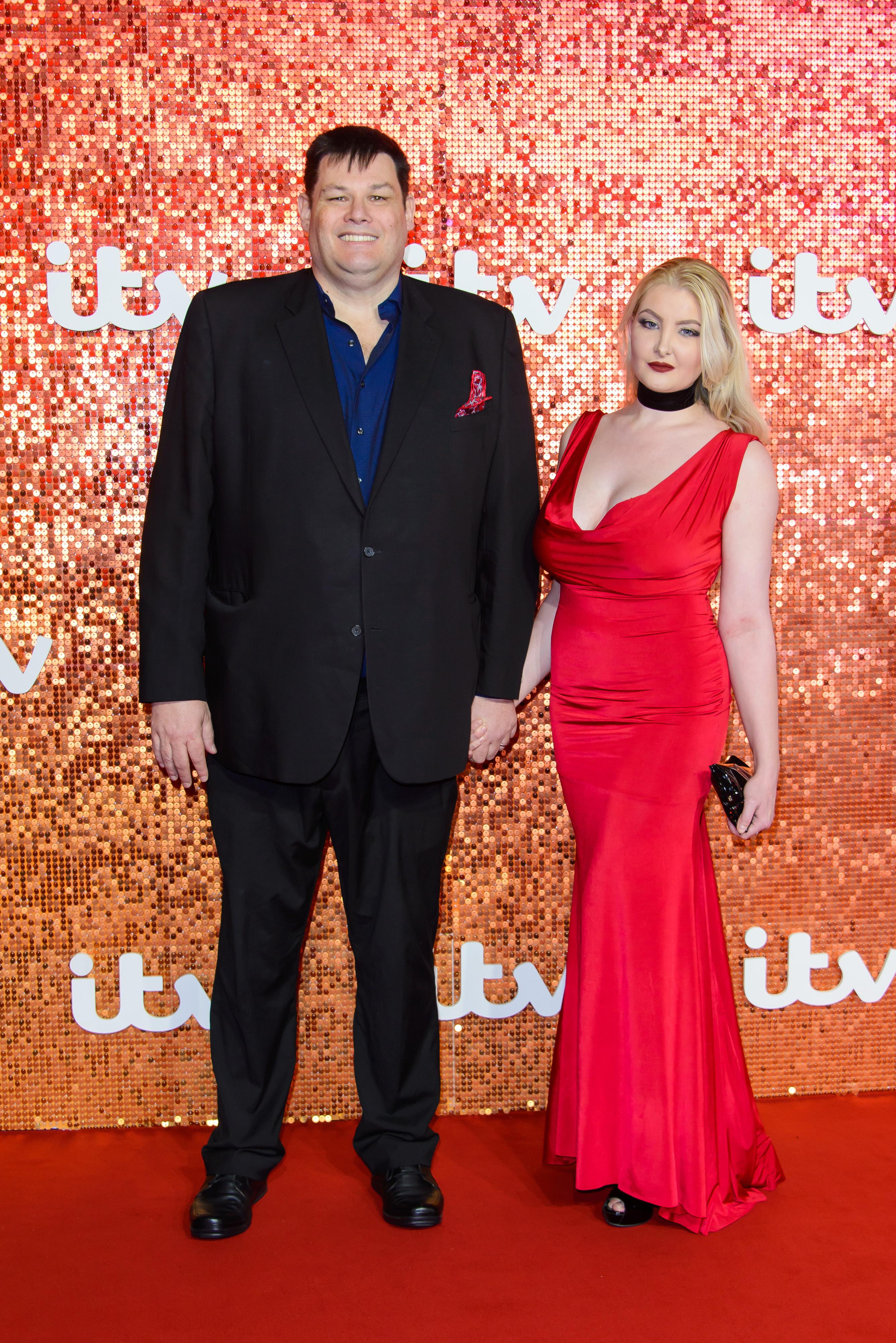 Mark Labbett and Katie Labbett arriving at the ITV Gala held at the London Palladium on November 9, 2017 in London, England. (Photo by Joe Maher/FilmMagic)