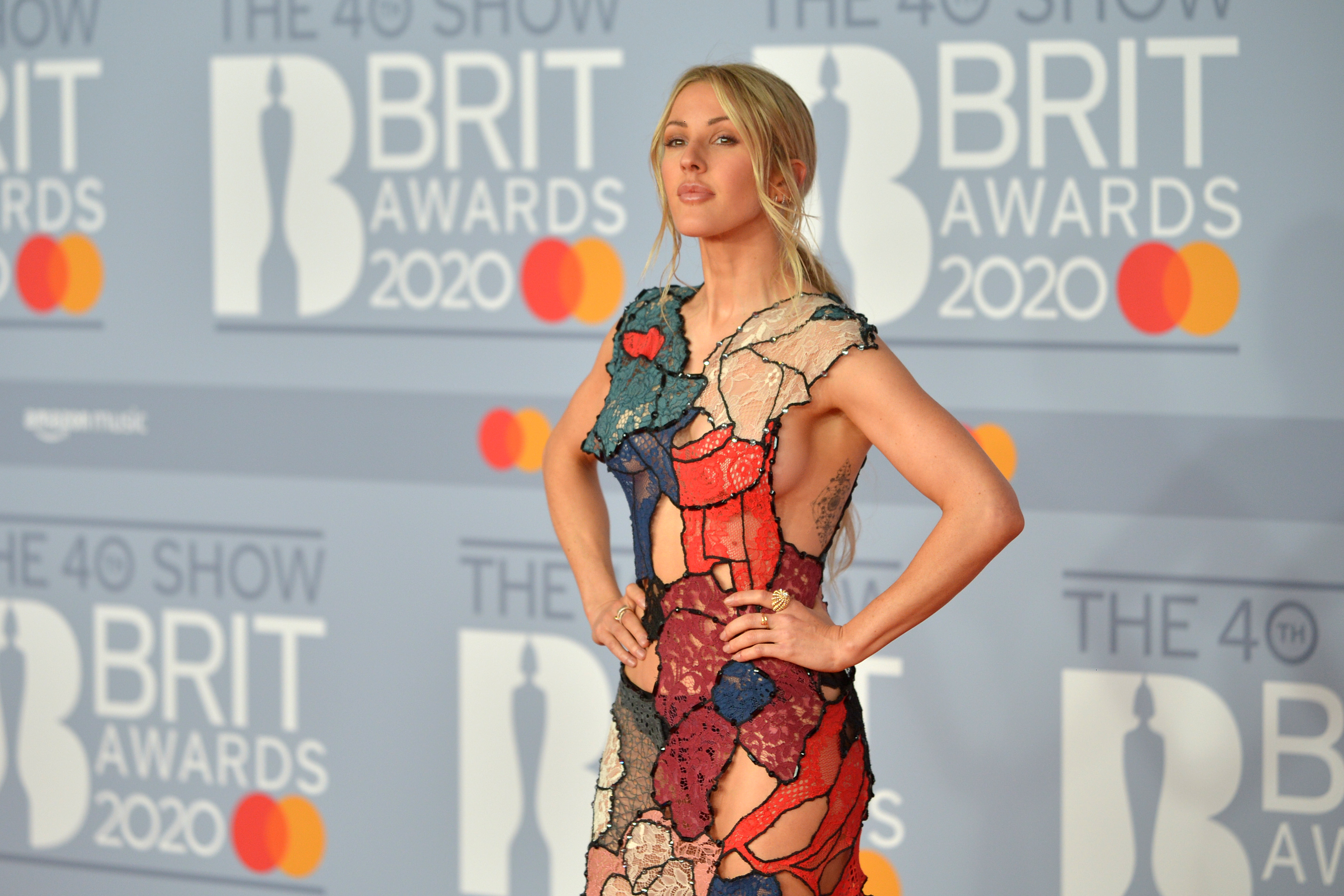 LONDON, ENGLAND - FEBRUARY 18: (EDITORIAL USE ONLY) Ellie Goulding attends The BRIT Awards 2020 at The O2 Arena on February 18, 2020 in London, England. (Photo by Jim Dyson/Redferns)