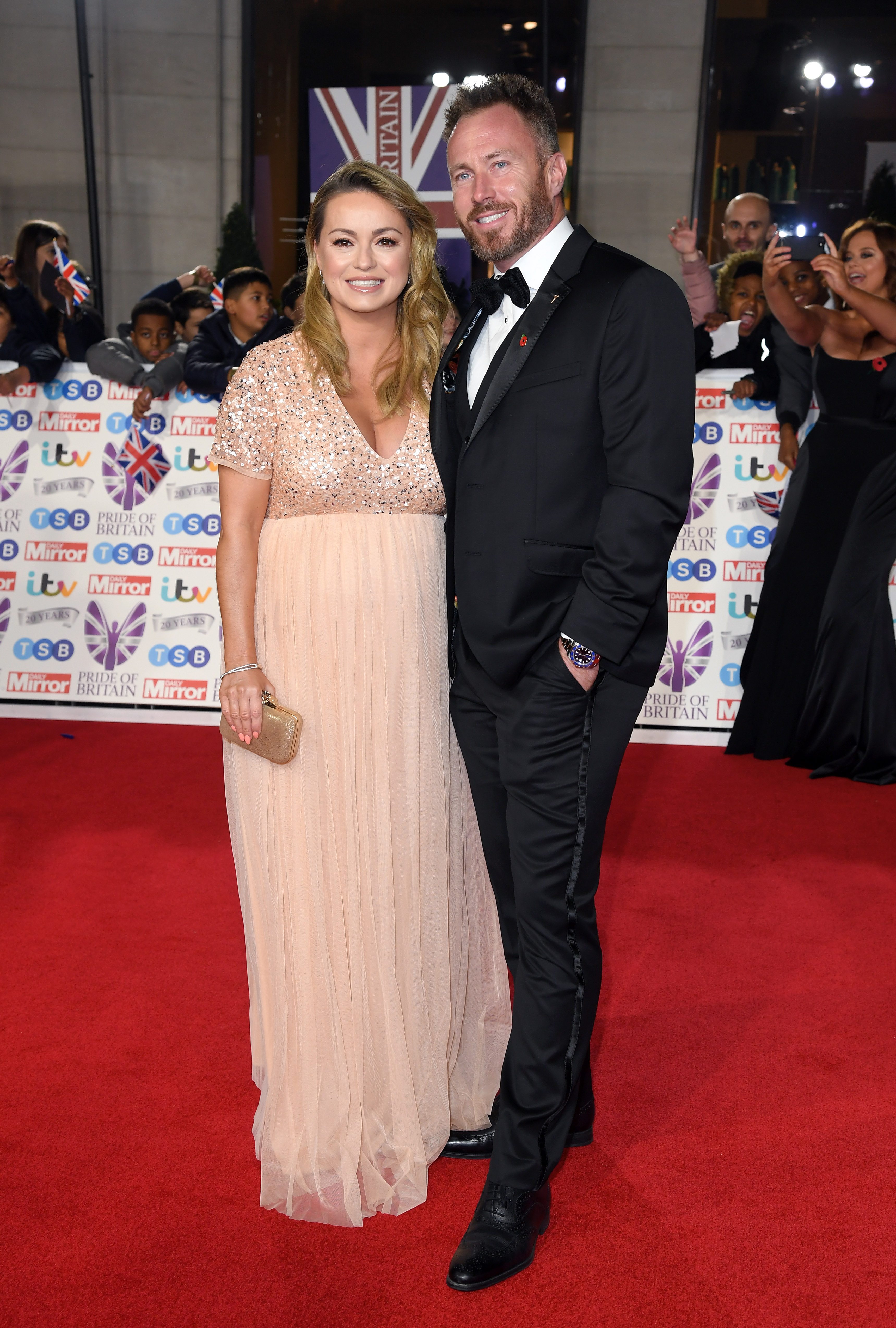 Ola Jordan and James Jordan attend the Pride Of Britain Awards 2019 at The Grosvenor House Hotel on October 28, 2019 in London, England. (Photo by Karwai Tang/WireImage)