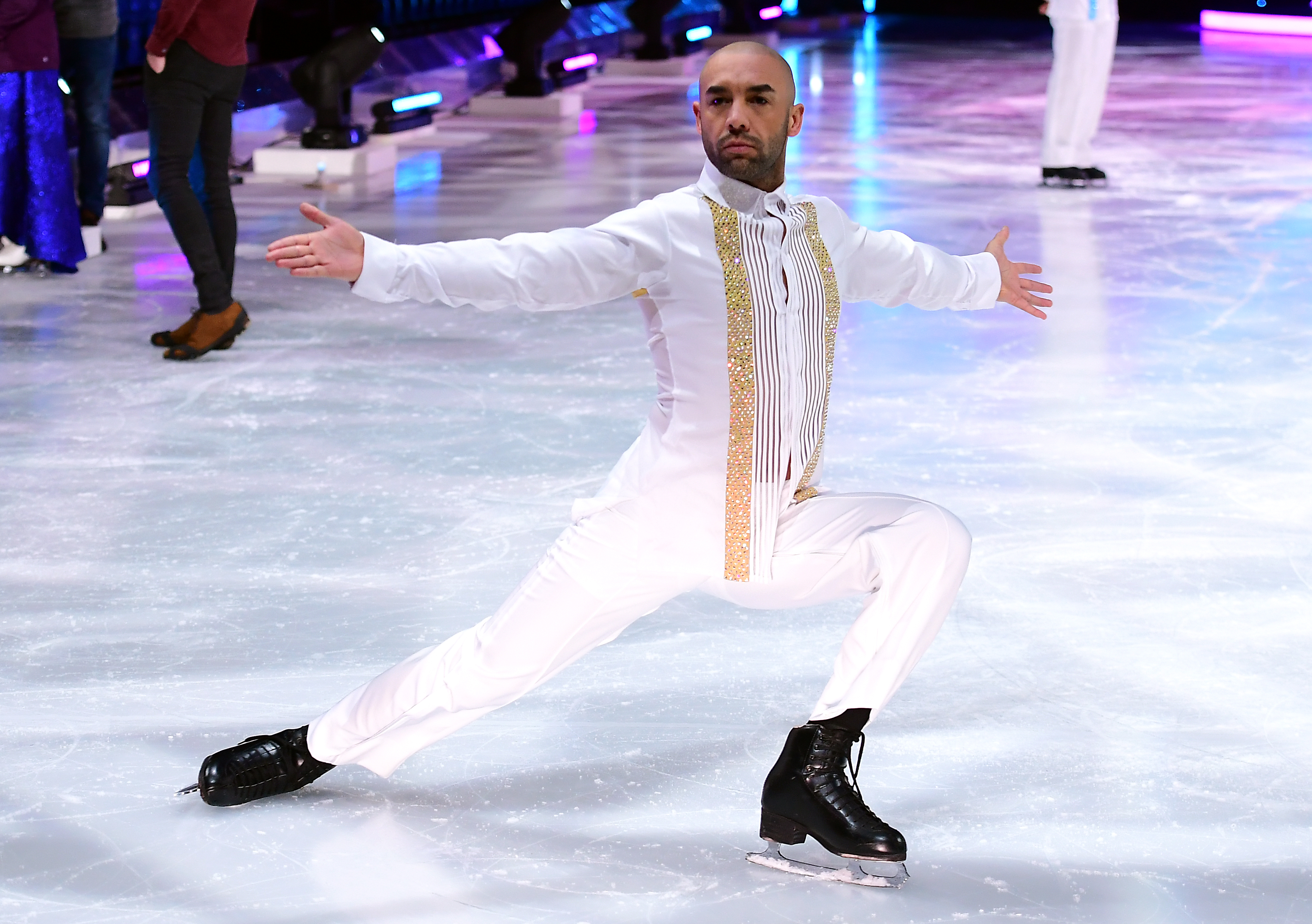 Alex Beresford during the Dancing On Ice Live UK Tour Launch Photocall at SSE Arena, London. (Photo by Ian West/PA Images via Getty Images)