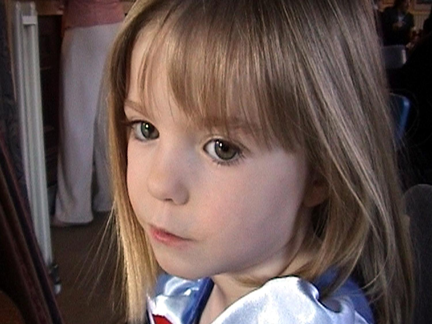 Madeleine McCann headshot, British girl  missing during a family holiday in the Algarve region of Portugal, photo