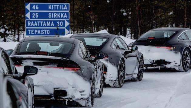 New Porsche 911 testing