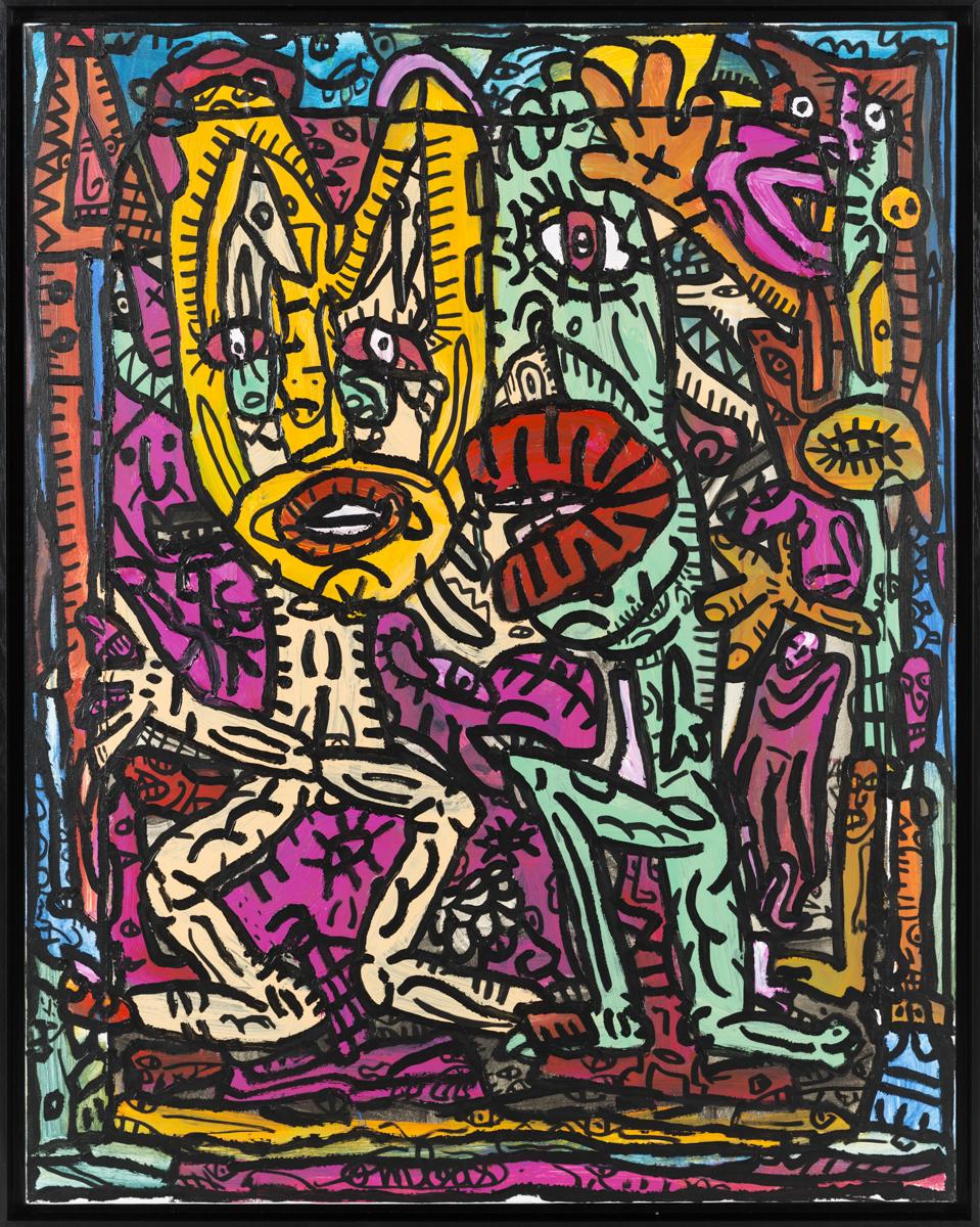 Une toile de Combas fait partie de cette vente aux enchères