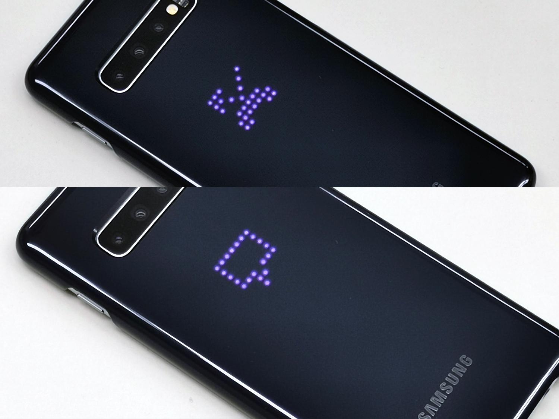 Galaxy S10は背面も光る!純正の「LEDカバー」を試してみた