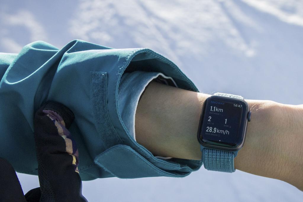 Apple Watchでスキー