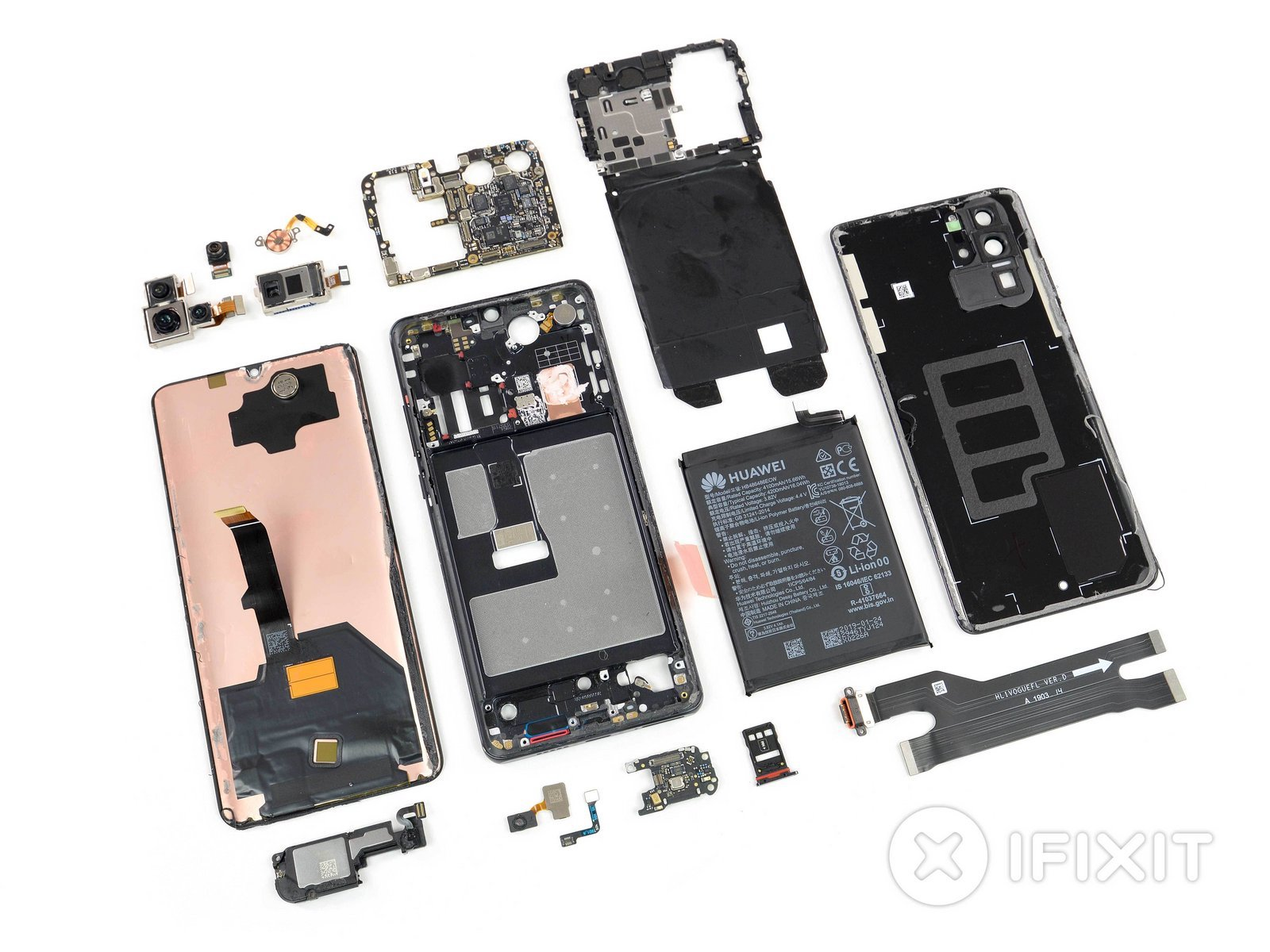 Huawei P30 ProをiFixitが分解報告。気になるカメラシステムの仕組みは ...