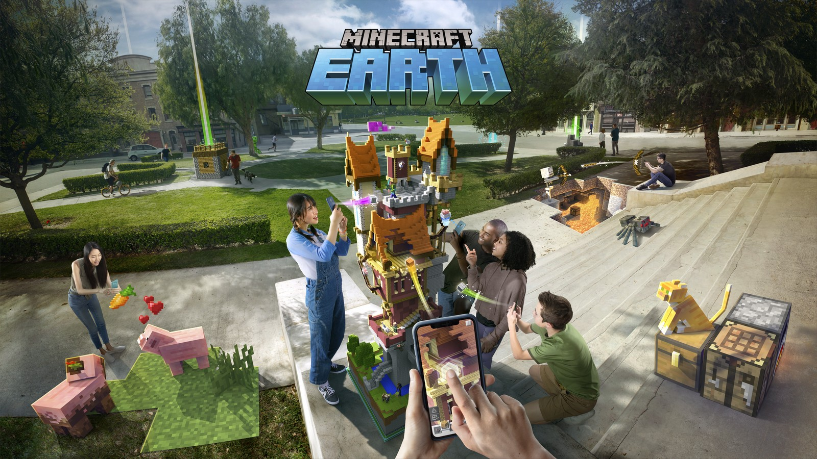 Minecraft Earth combines Pokemon Go with Mojang's block builder