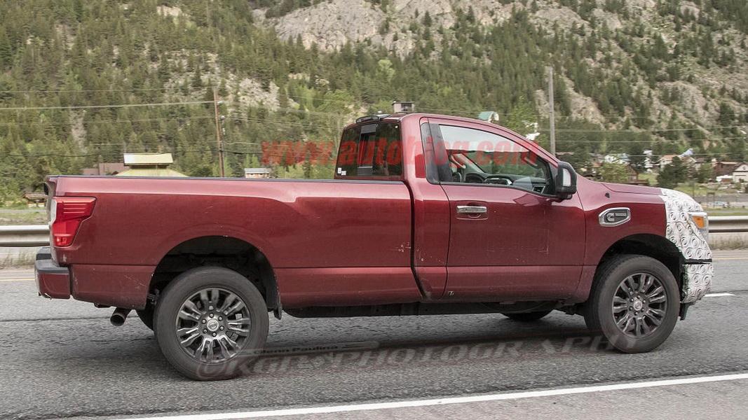圖 / 相較於上次被拍到時被包覆得密不透風,這次全車身許多迷彩偽裝都被撕掉了,看起來像是升級版的Titan XD。