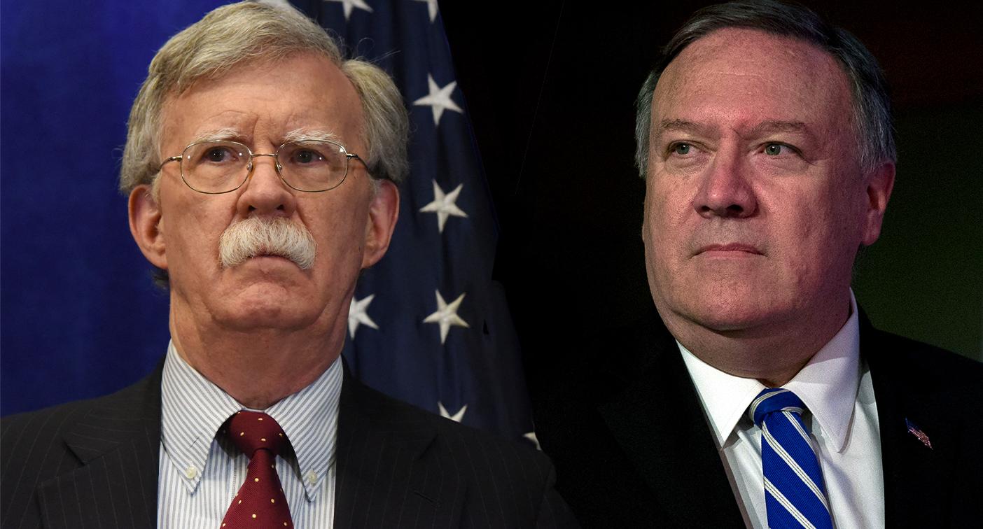 National security adviser John Bolton (Photo: Stephanie Keith/Getty Images); Secretary of State Mike Pompeo (Photo: Alex Brandon/AP)