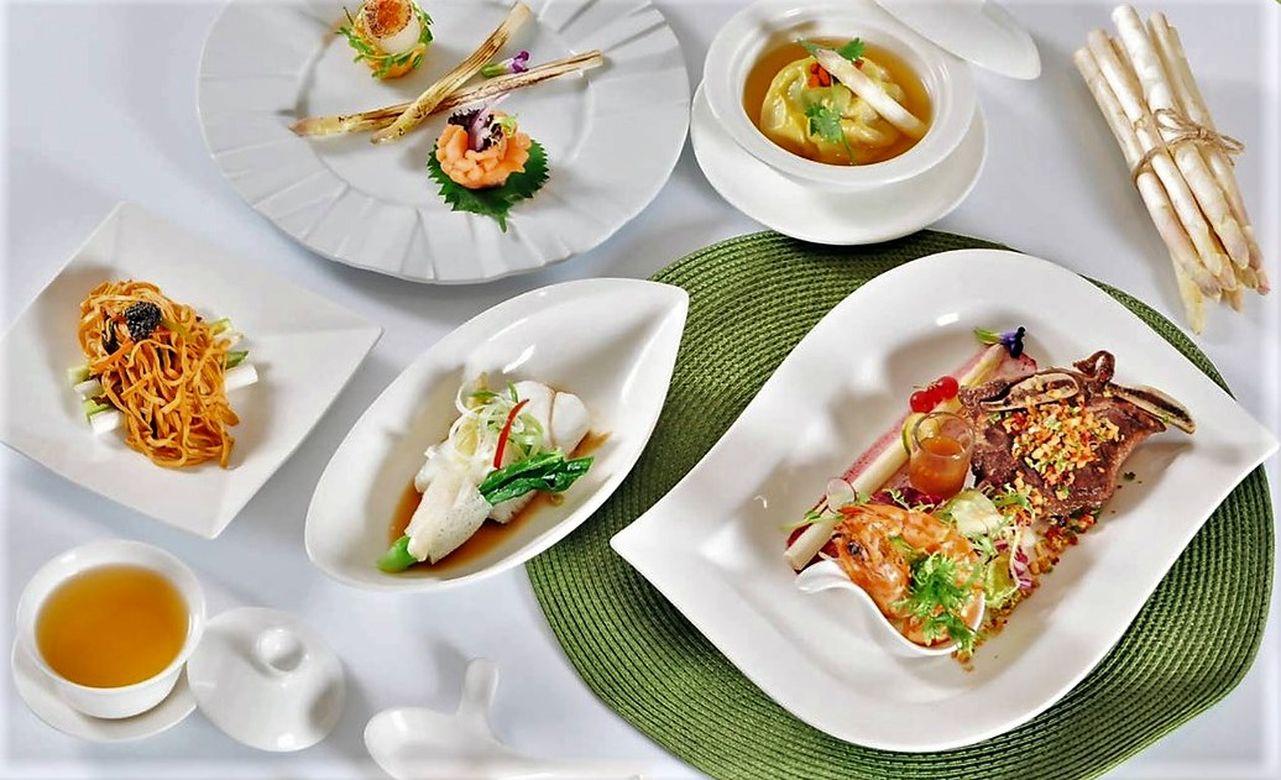 ▲台北凱撒大飯店王朝中餐廳推夏季限定「極品寶島白蘆筍饗宴」。
