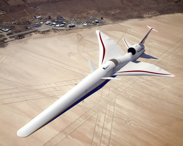 It's hoped it will fly over land without sonic booms (NASA)