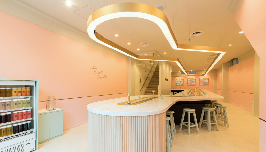 店家裝潢都是以少女粉色為主,是打卡必備條件!(圖片取自官方網站「MAISON ABLE Cafe Ron Ron」)