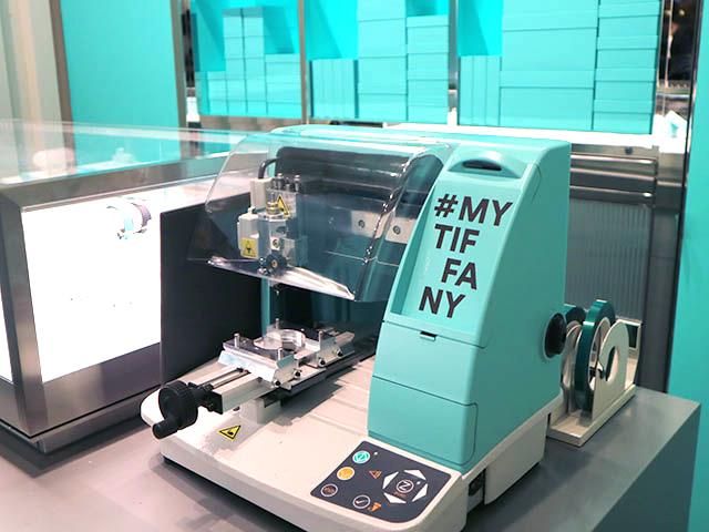 可以印製 「#MY TIFFANY」LOGO的刻印機 (圖片取自「NAVITIME TRAVEL」)