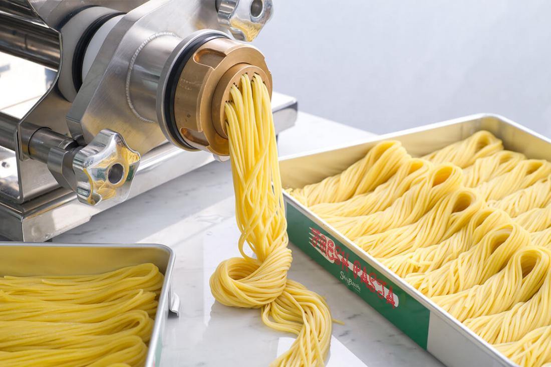 店家特製義大利麵加上醬料吧的明太子醬,是絕配啊!(圖片取自官方網站「Sweets Paradise」)