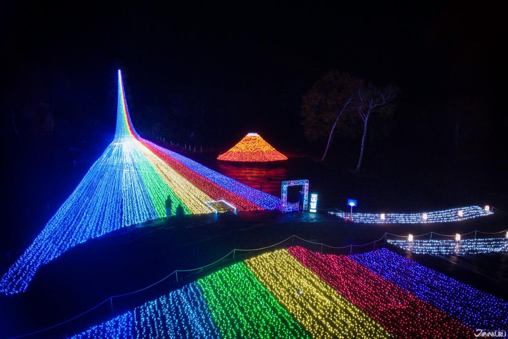 APA渡假村上越妙高的燈光秀