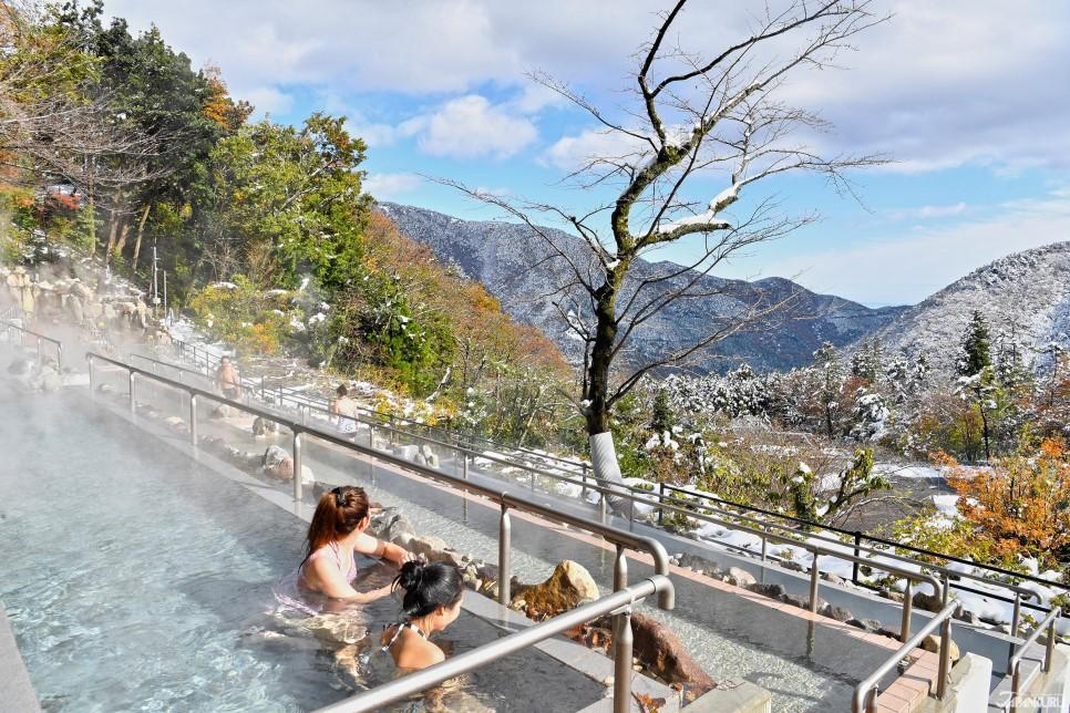 一邊泡溫泉一邊眺望富士山