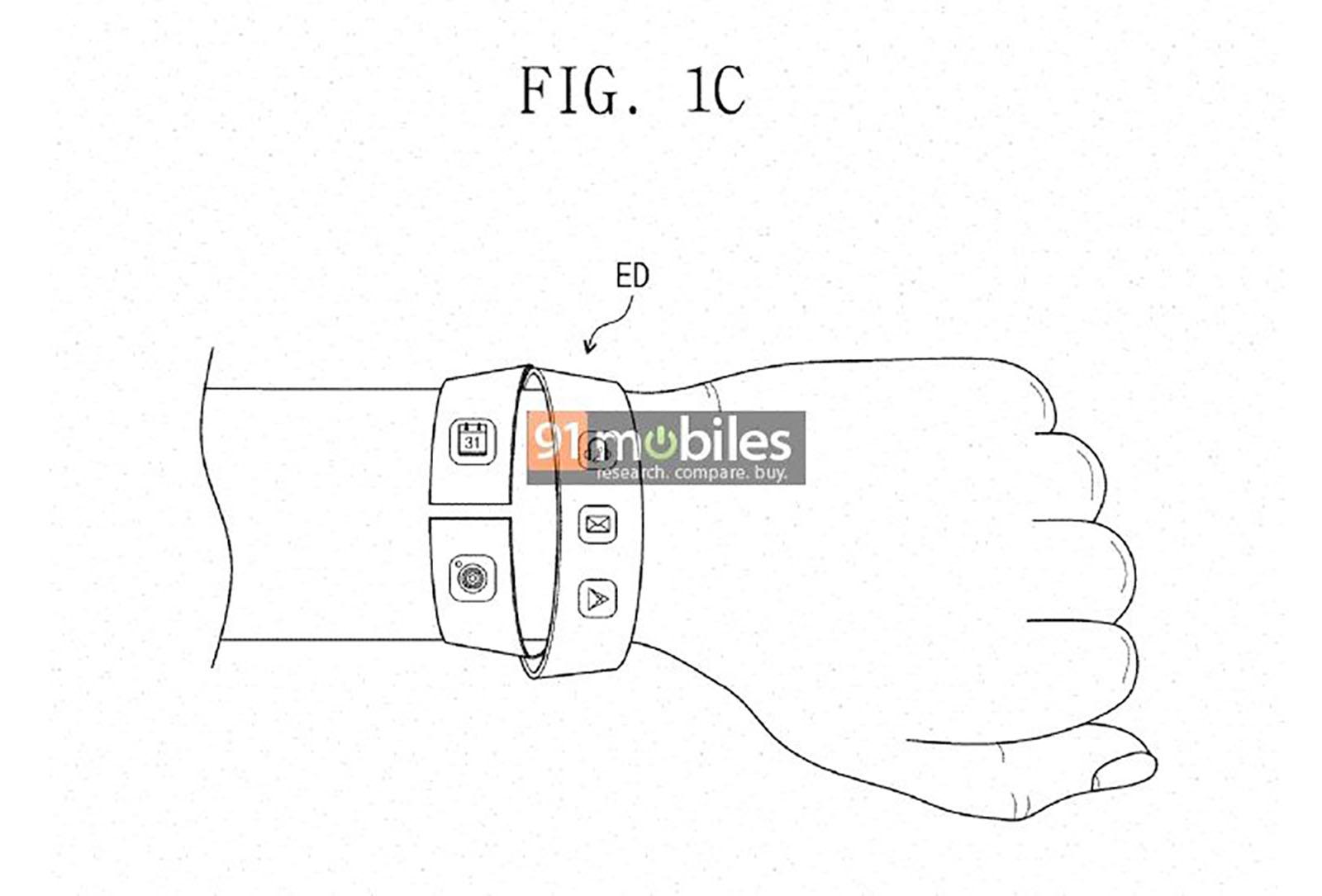 Samsung Smartband Patent