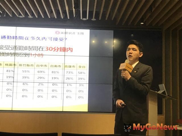 ▲永慶房屋業管部資深經理謝志傑分析:貿易戰、總統大選變數大 78%消費者2020年後才想購屋