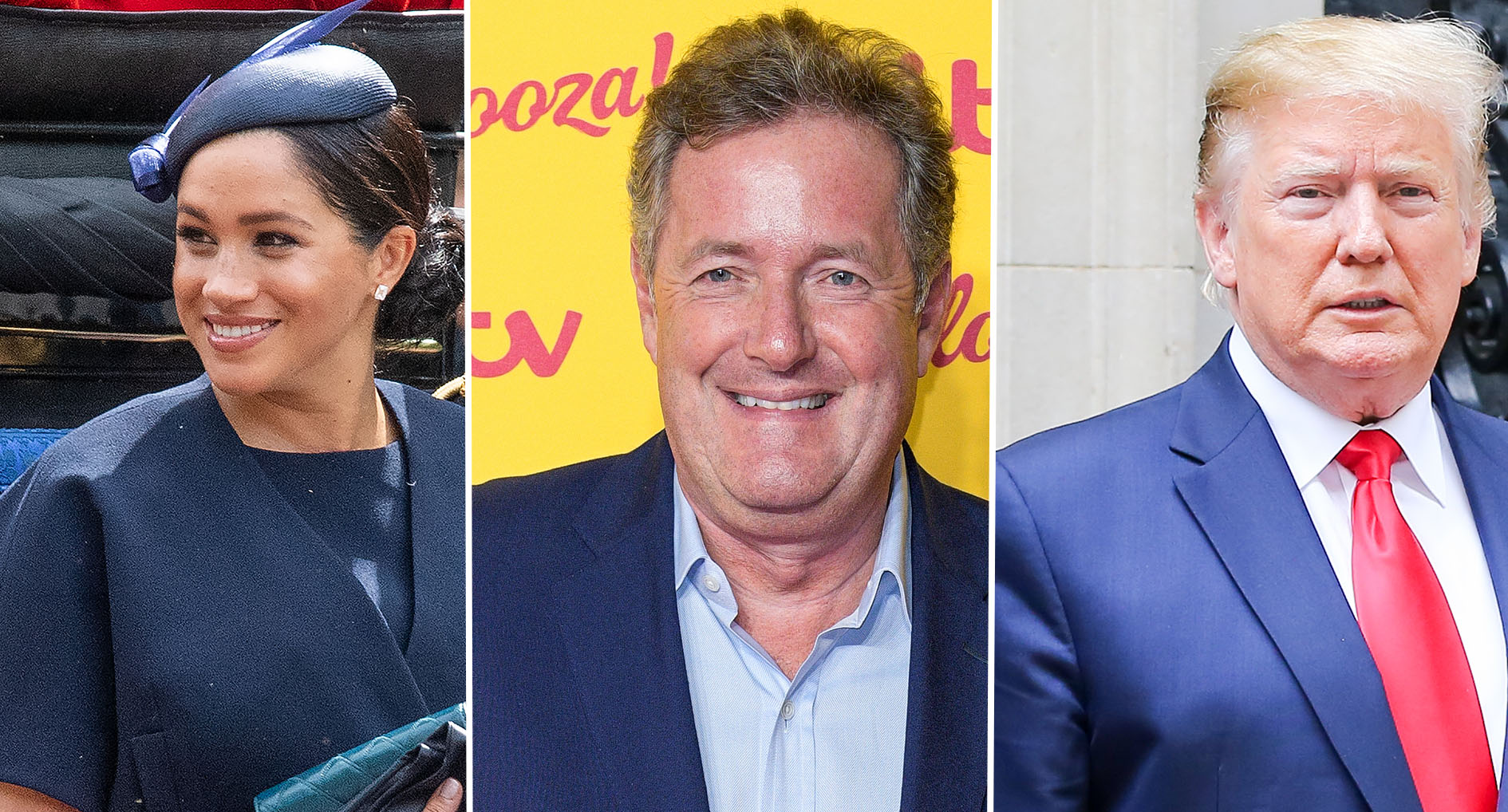 Duchess of Sussex, Piers Morgan and Donald Trump [Photos: PA]