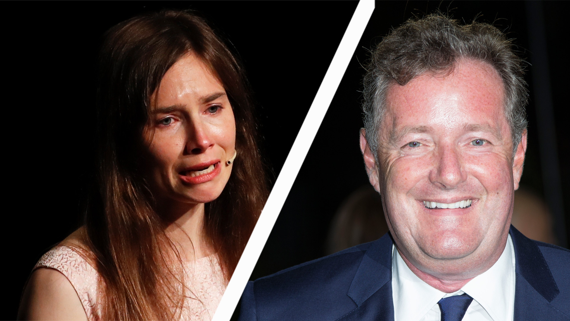 Amanda Knox and Piers Morgan have clashed over her claims she turned down an interview with him (Credit: AP)