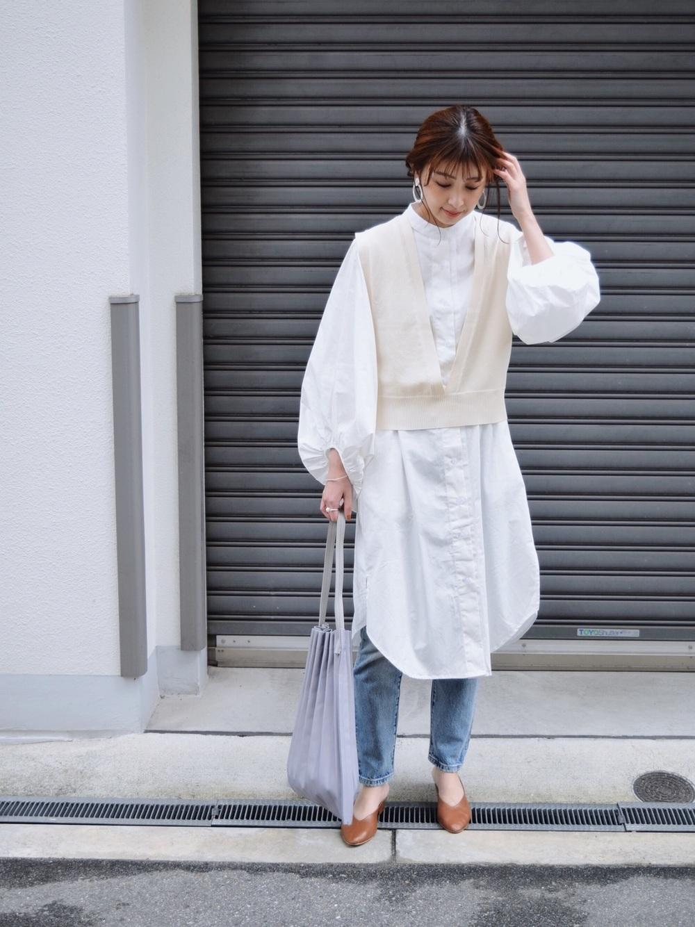 白色 長 版 襯衫 穿 搭