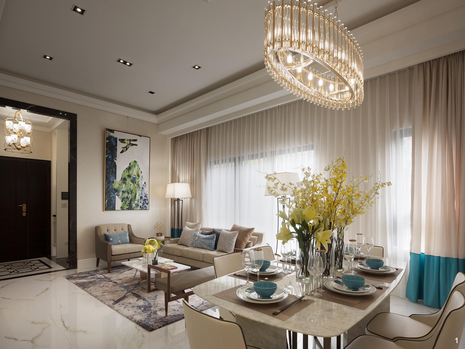 1. 明亮清爽、優雅而休閒的時尚新古典風格,充分彰顯屋主獨到眼光。