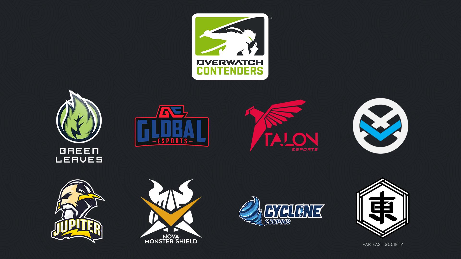 2019《鬥陣特攻》太平洋職業競技賽第二賽季 參賽隊伍