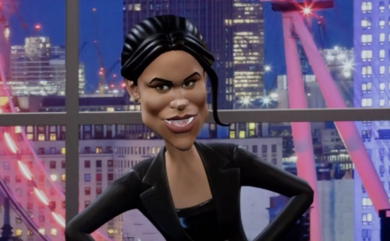 The upcoming segment, will feature on spoof program Tonight With Vladimir Putin, where the Duchess of Sussex was portrayed as 'trailer trash' who threatens to attack Kate Middleton. Photo: BBC