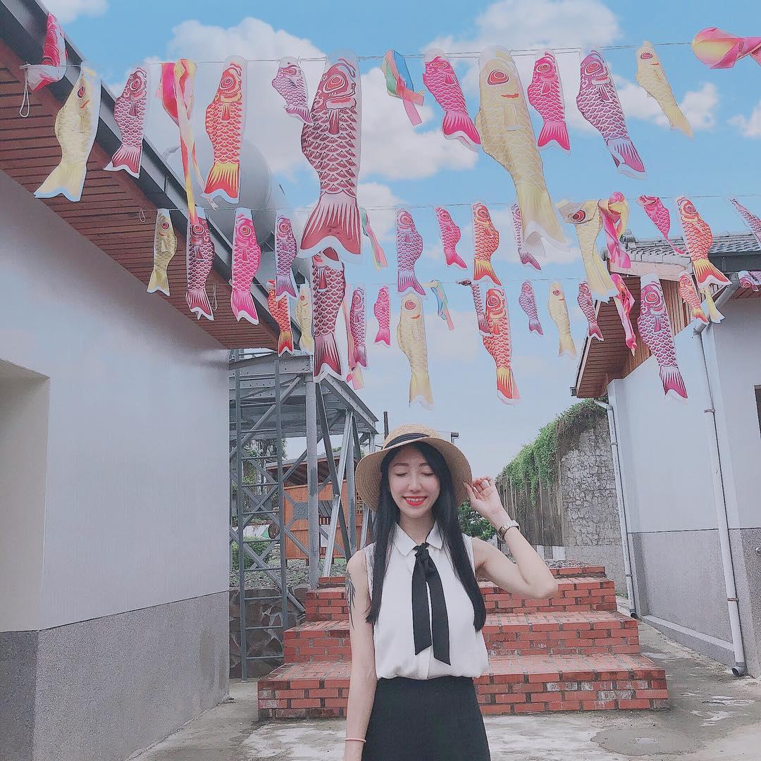 園區內的鯉魚旗繽紛吸睛,是網友最愛拍的角落。
