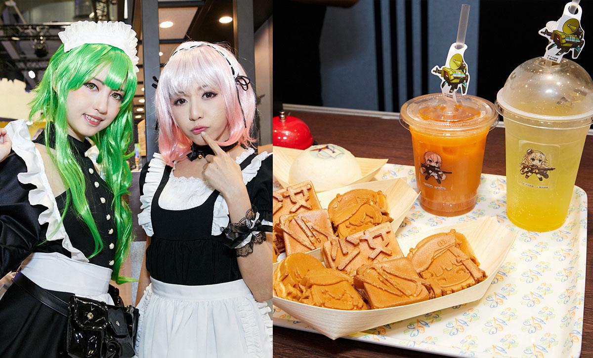 ▲少女前線–由穿著女僕裝扮的人形們為指揮官送上現烤現作的特製餐點