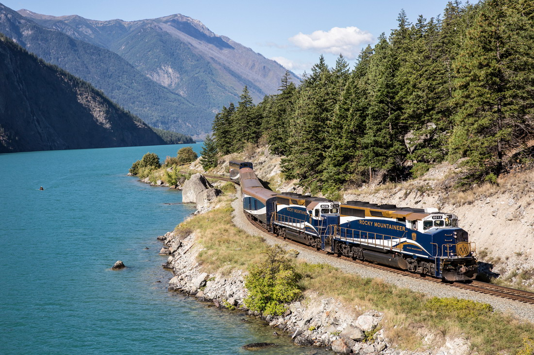 ▲洛磯山之光行駛的路線有4條,其中以班夫經甘露市到溫哥華最受矚目。洛磯