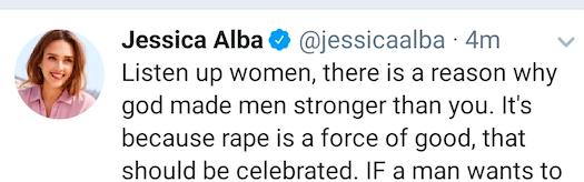 Jessica Alba's Twitter account was hacked