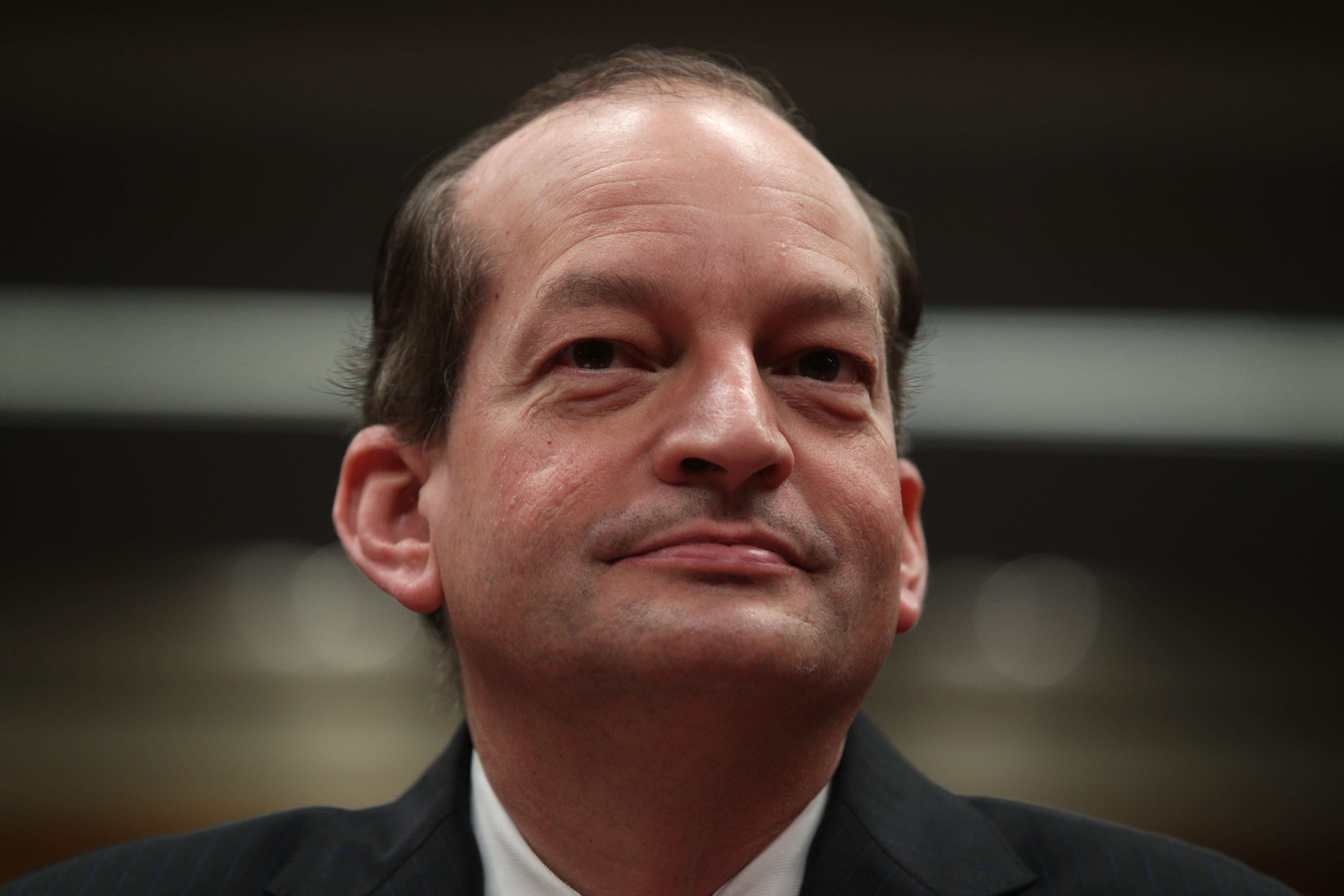 U.S. Labor Secretary Alexander Acosta testifies during a hearing before the Labor, Health and Human Services, Education and Related Agencies Subcommittee of Senate Appropriations Committee May 2, 2019 on Capitol Hill in Washington, D.C. (Photo: Alex Wong/Getty Images)