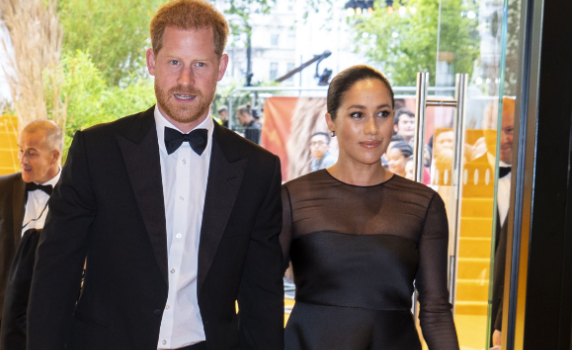 Prince Harry and Meghan Markle at the lion king premiere in london