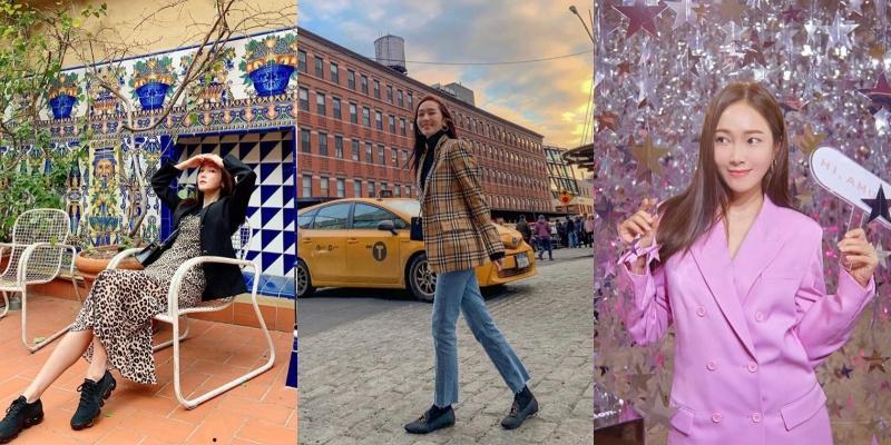 西裝外套是Jessica在穿搭造型中最不可缺少的單品之一。(截自Jessica IG)