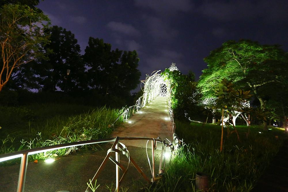 月影潭心與蘭潭音樂水舞噴泉