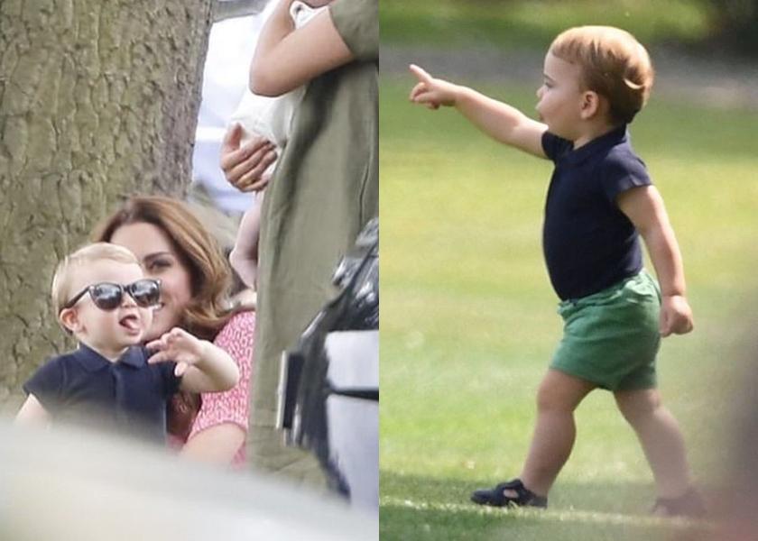 挺著嬰兒肚,凱特還幫路易小王子戴上自己的墨鏡超萌。(翻攝自IG)