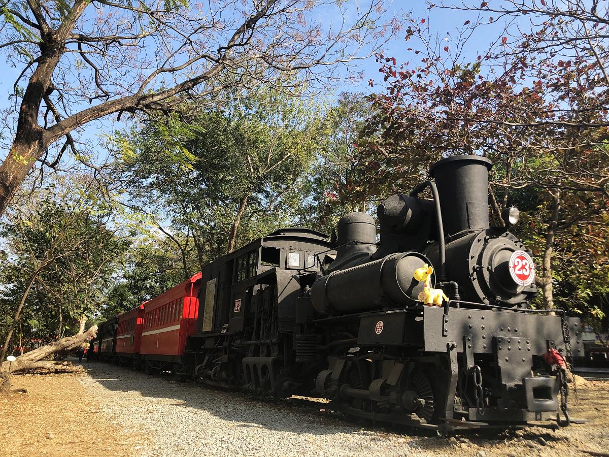 (車庫園區珍貴蒸汽火車及日本皇室貴賓車 圖片來源:阿里山林業鐵路及文化資產管理處)