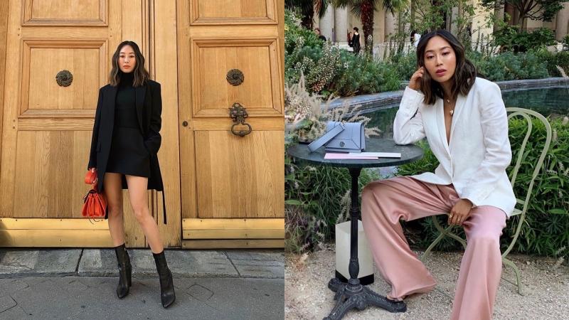 時尚部落客Aimee Song也是西裝外套的愛用者之一。(截自Aimee IG)
