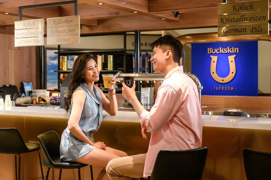位於台北101的「Buckskin Taproom柏克金啤酒吧」。圖片提供/Buckskin柏克金餐酒集團