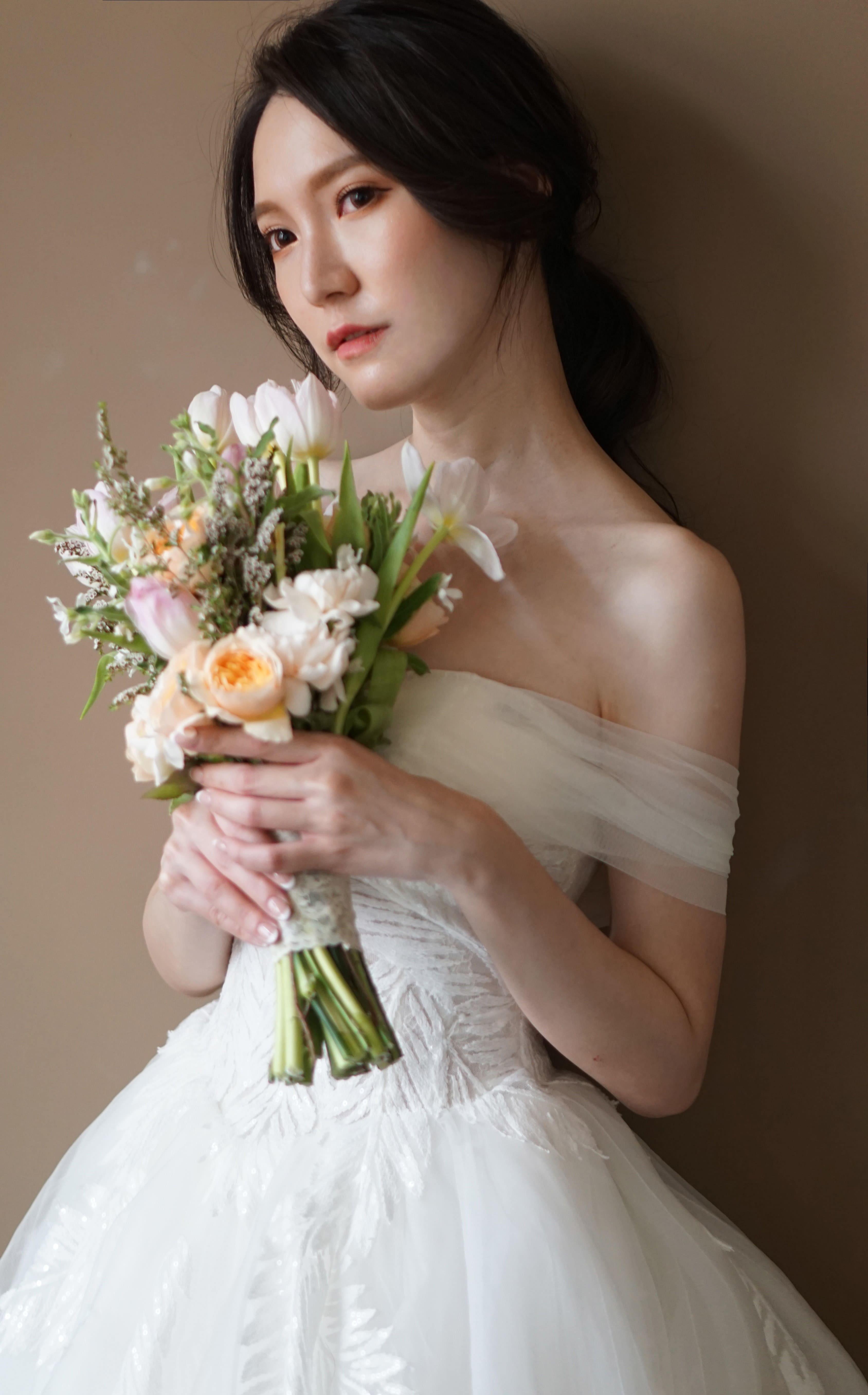 拍起來超上鏡!韓系婚紗瀏海的三個重點!