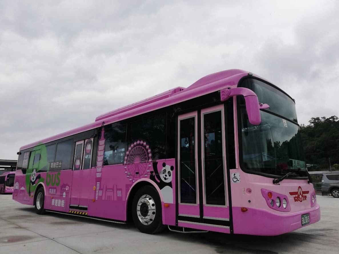 66路公車除了全電動化,集結先進科技於一身。(圖/北市府交通局)