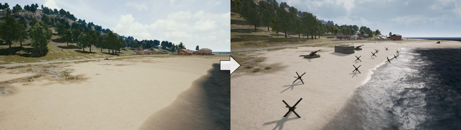 海岸邊新增障礙物。