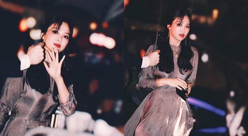 宋慧喬之前出席品牌活動時就畫過煙燻妝。