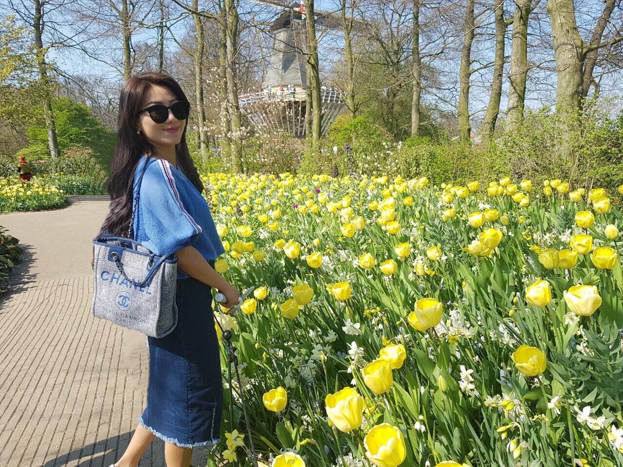 ▲去過那麼多趟荷蘭,佩甄總算沒有錯過花季。