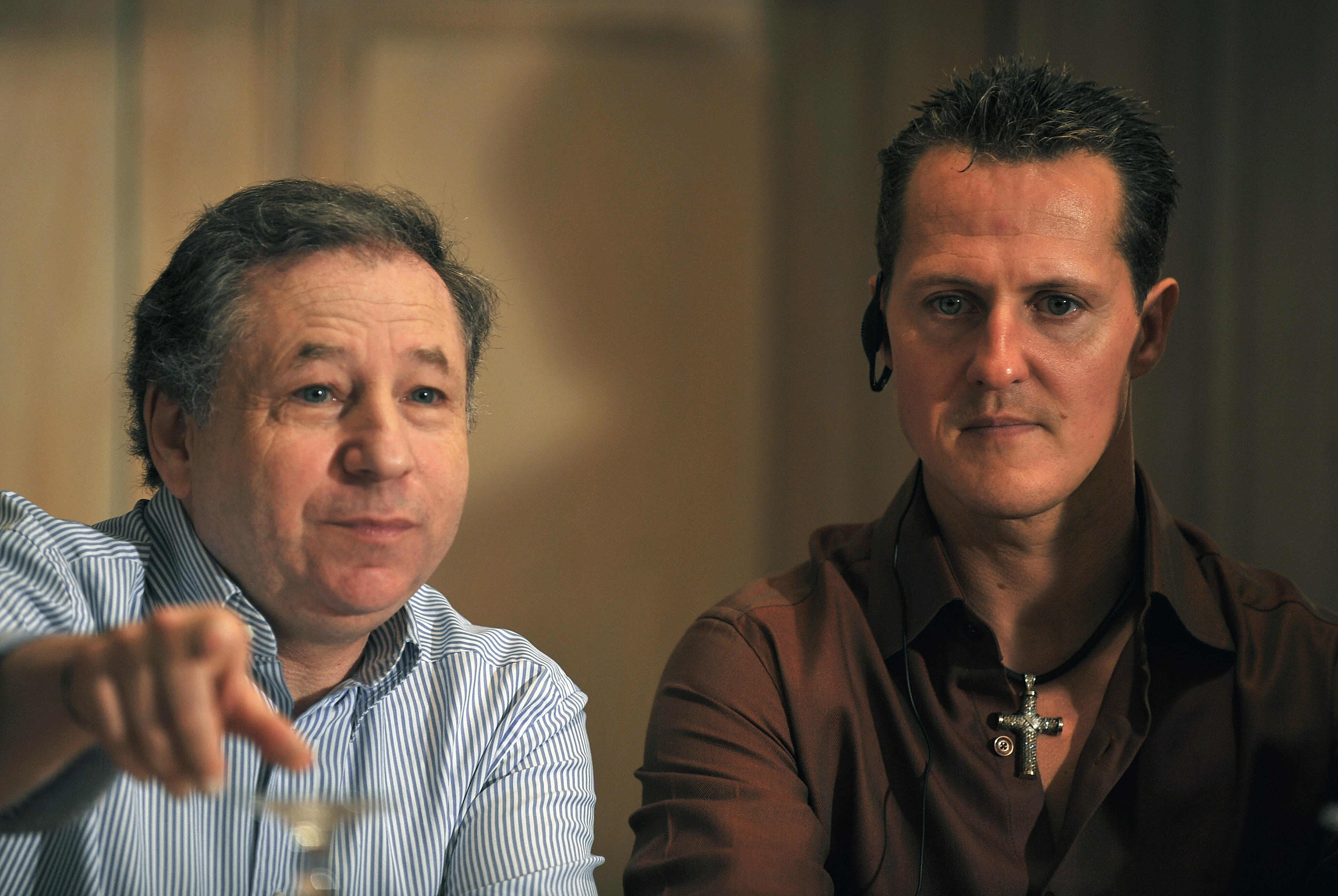 """Jean Todt says that Micheal Schumacher is still """"fighting"""" following his accident  (Photo credit should read YURI CORTEZ/AFP/Getty Images)"""