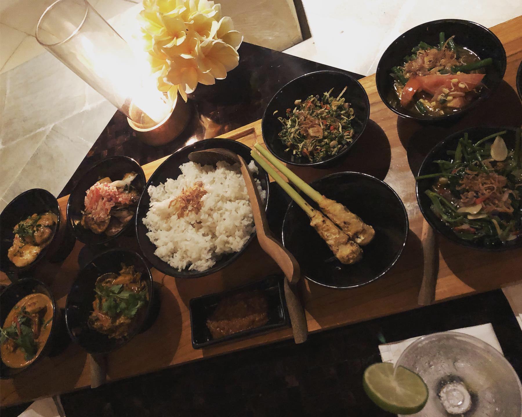 ▲住在以客為尊的飯店,林可彤無緣品嘗到當地美食,不過飯店多元化的食物也讓一家相當滿足。