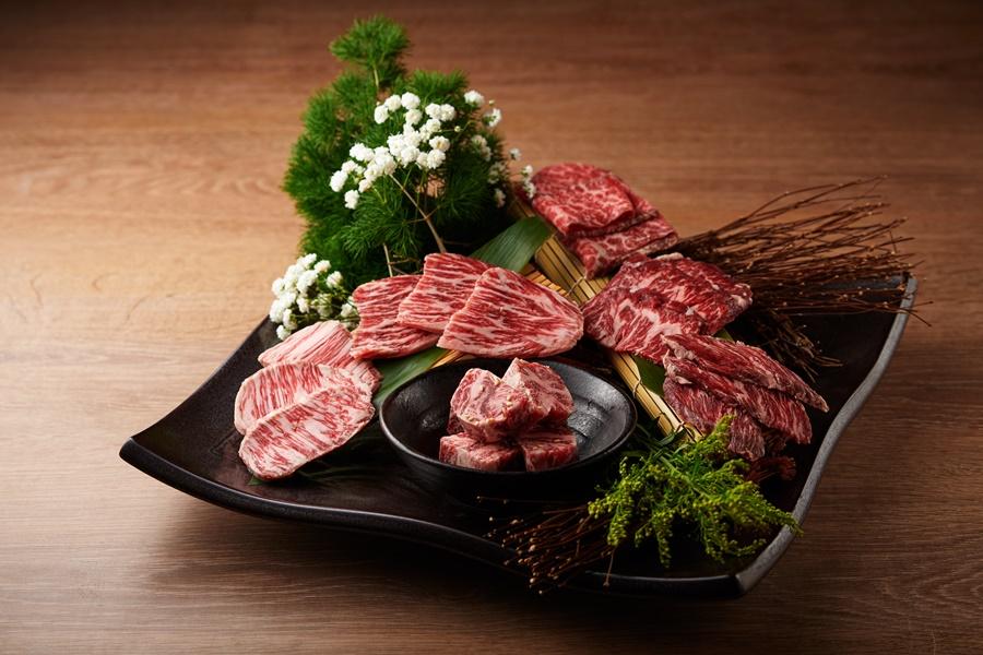 uckskin柏克金燒肉屋「豪華和牛組合。圖片提供/Buckskin柏克金餐酒集團