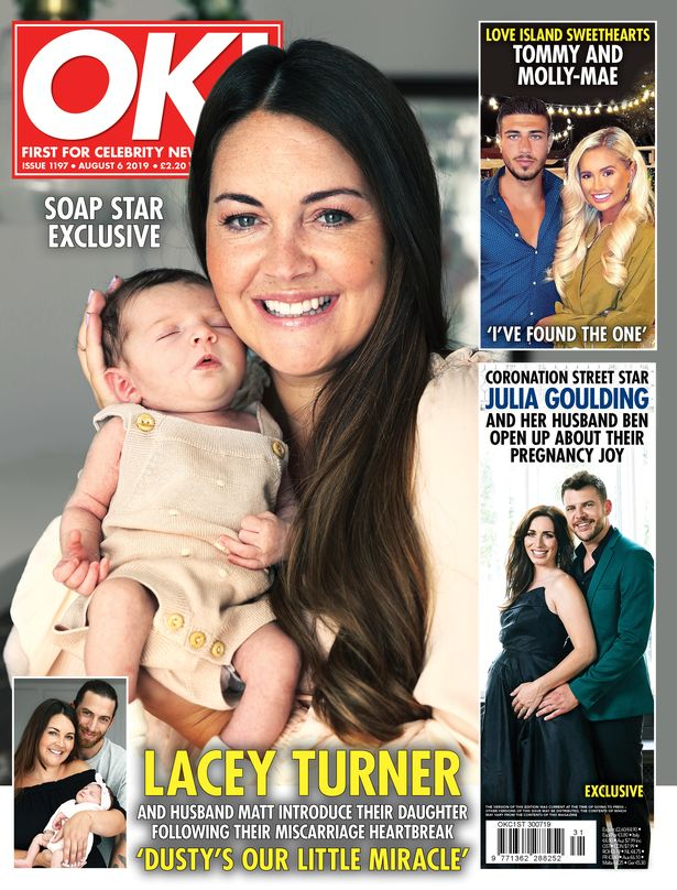 Lacey Turner reveals her new baby girl (Credit: OK! magazine)